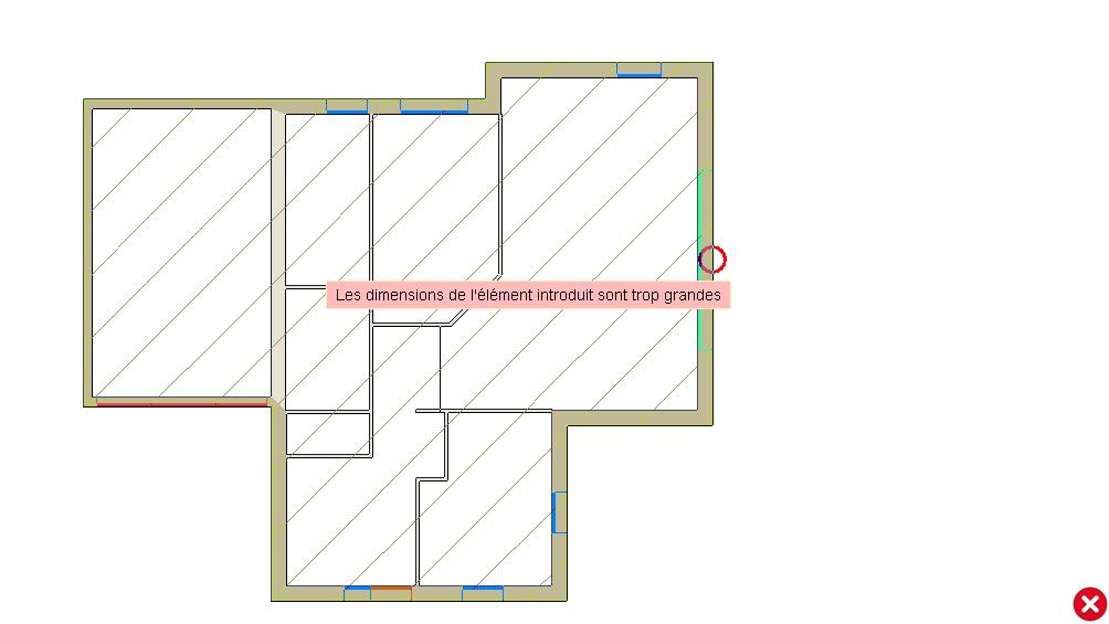 Comment corriger l erreur les dimensions de l l ment for Dimensions baies vitrees